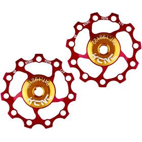 KCNC Jockey Wheel SS Bearing 11 Zähne Paar red